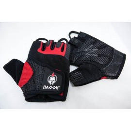 Gants fitness musculation Haooh rouge et noir