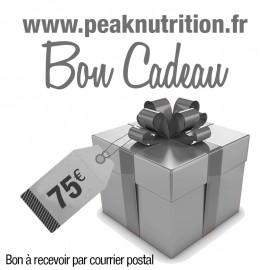 Bon cadeau 75€ - A RECEVOIR PAR COURRIER POSTAL