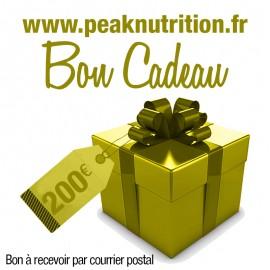 Bon cadeau 200€ - A RECEVOIR PAR COURRIER POSTAL
