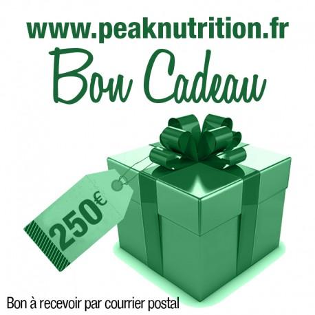 Bon cadeau 250€ - A RECEVOIR PAR COURRIER POSTAL