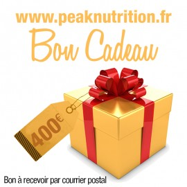 Bon cadeau 400€ - A RECEVOIR PAR COURRIER POSTAL