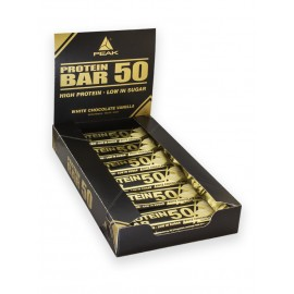 Protein Bar 50 - Chocolat Blanc Vanille - Boite de 12 barres