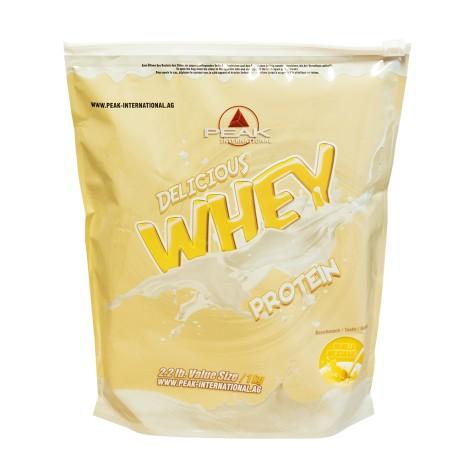 Delicious Muscle Whey Protein Vanille milkshake, vanille icecream, tropical, coco