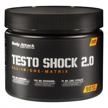Testo Shock 2.0 - 90 Maxi gélules - Body-Attack