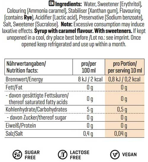 coulis caramel diététique 0%