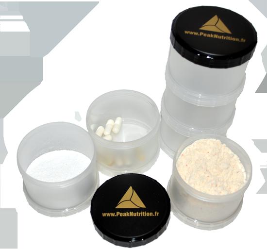 PowerTower - Boite pour poudre de protéines et gélules
