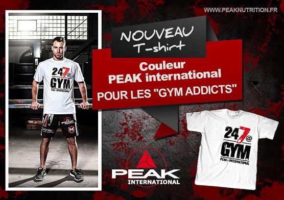 T-shirt PEAK 24/7@GYM