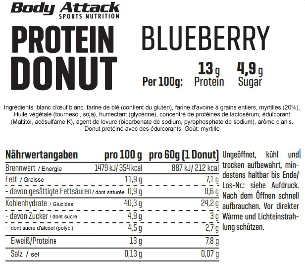 ingredients donut aux proteines