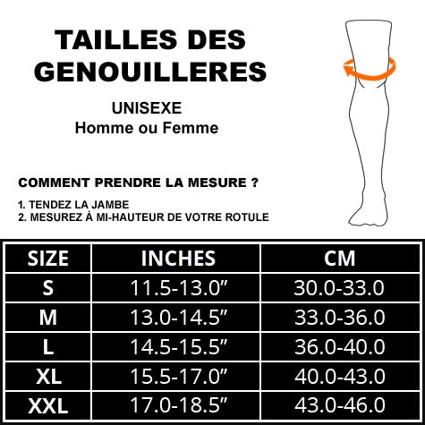 taille genouillère haooh