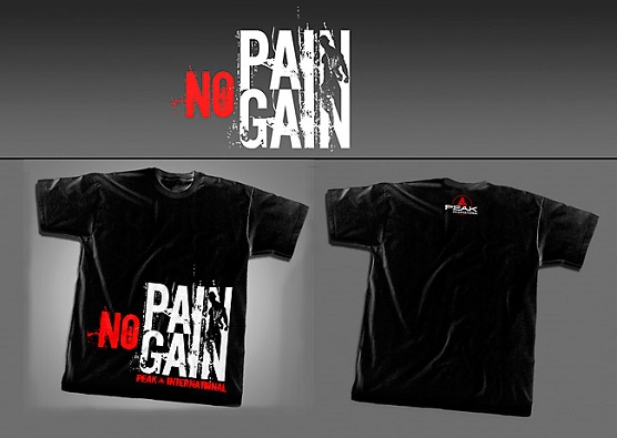 T-shirt PEAK NO PAIN NO GAIN