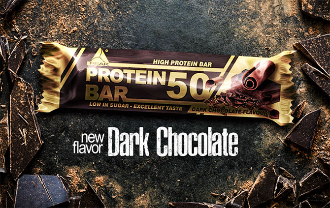 Barre protéine 50 de PEAK faible en glucides