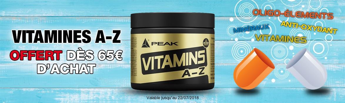 Vitamines A-Z offert dès 65€ d'achat