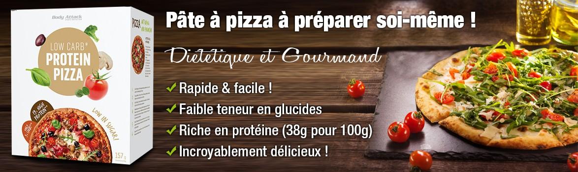 Pâte à pizza diététique et gourmand