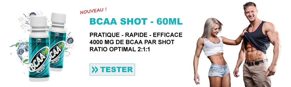BCAA liquides en shot de 60ml