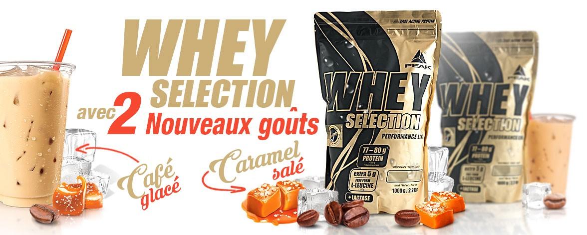 Nouveaux gouts Whey Selection
