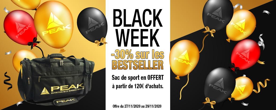 Black Week + sac sport offert à partir de 120 euros