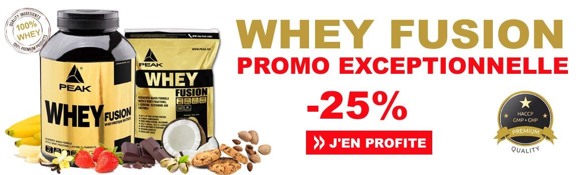 Whey Fusion en promotion exceptionnelle