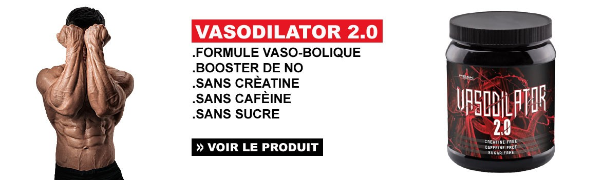 VASODILATOR 2.0 - Formule VASO-ANABOLIQUE de pré-entraînement sans caféine et sans créatine