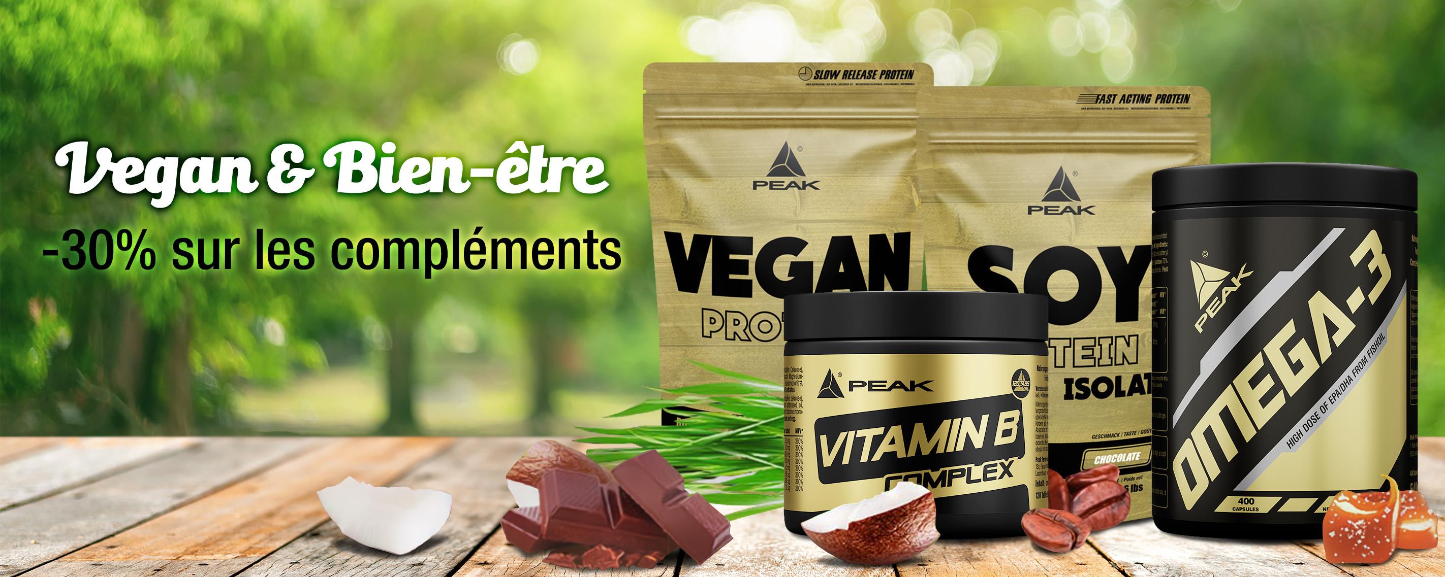30% sur compléments Vegan et Bien-être