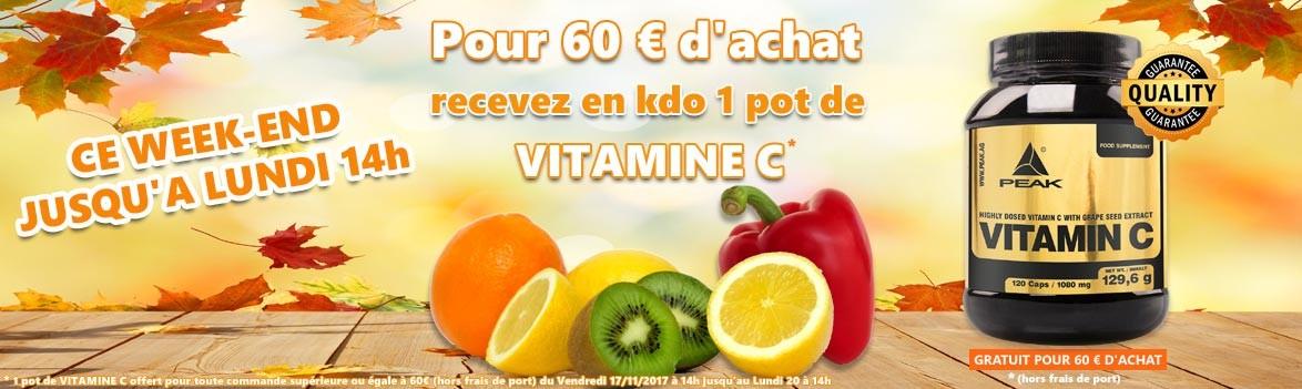 Vitamine C en cadeau pour 60 euro de commande
