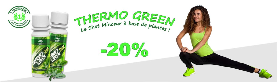 Thermo Green le shot minceur à base de plantes en promo